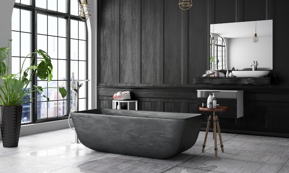 Kies voor zwart badkamer